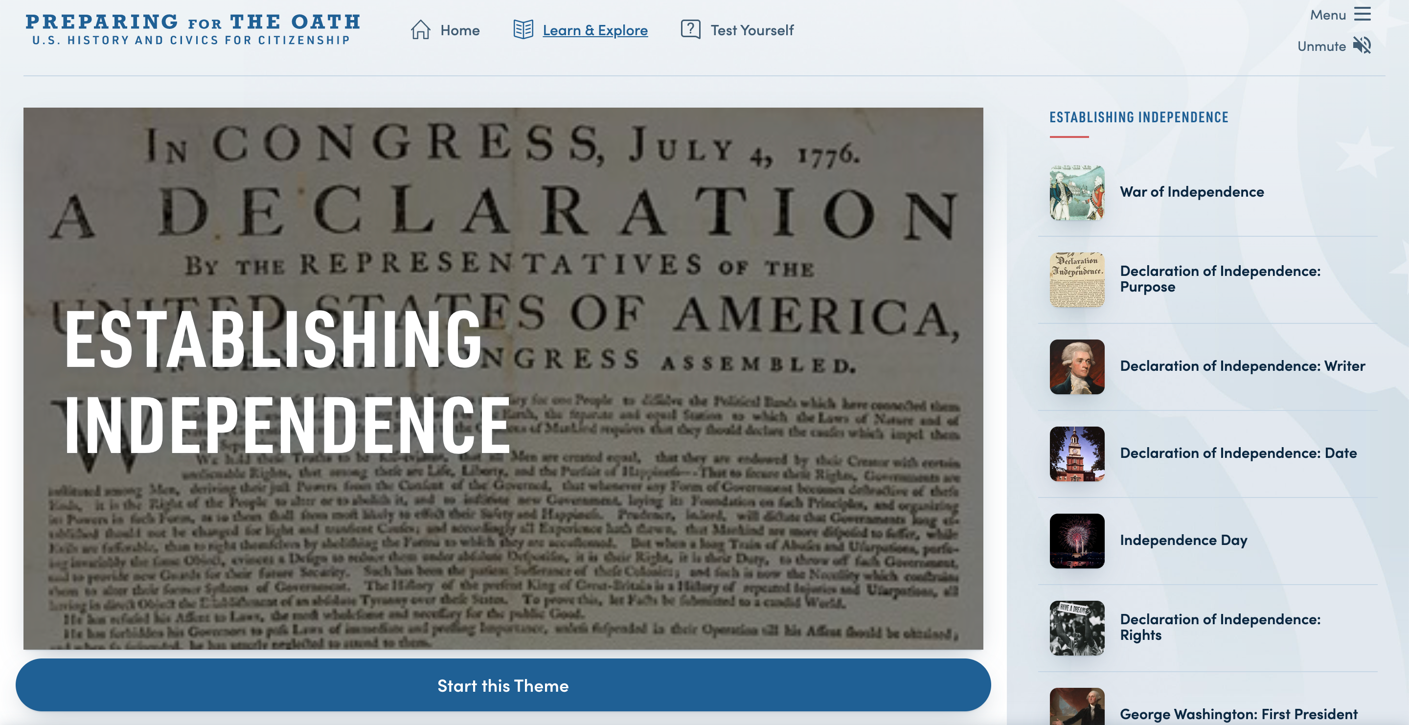 Thumbnail image of Preparing for the Oath: Establishing Independence resource