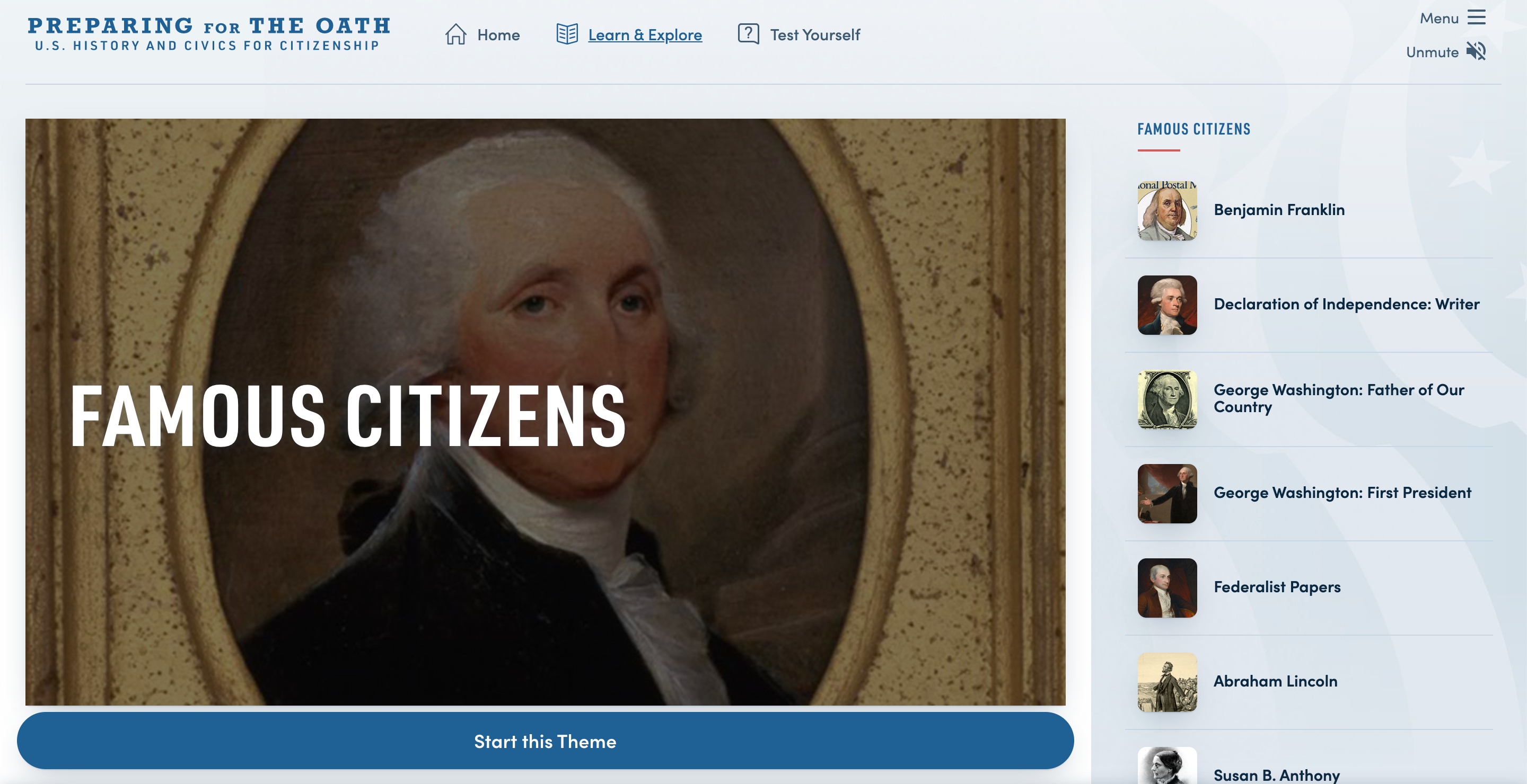 Thumbnail image of Preparing for the Oath: Famous Citizens resource