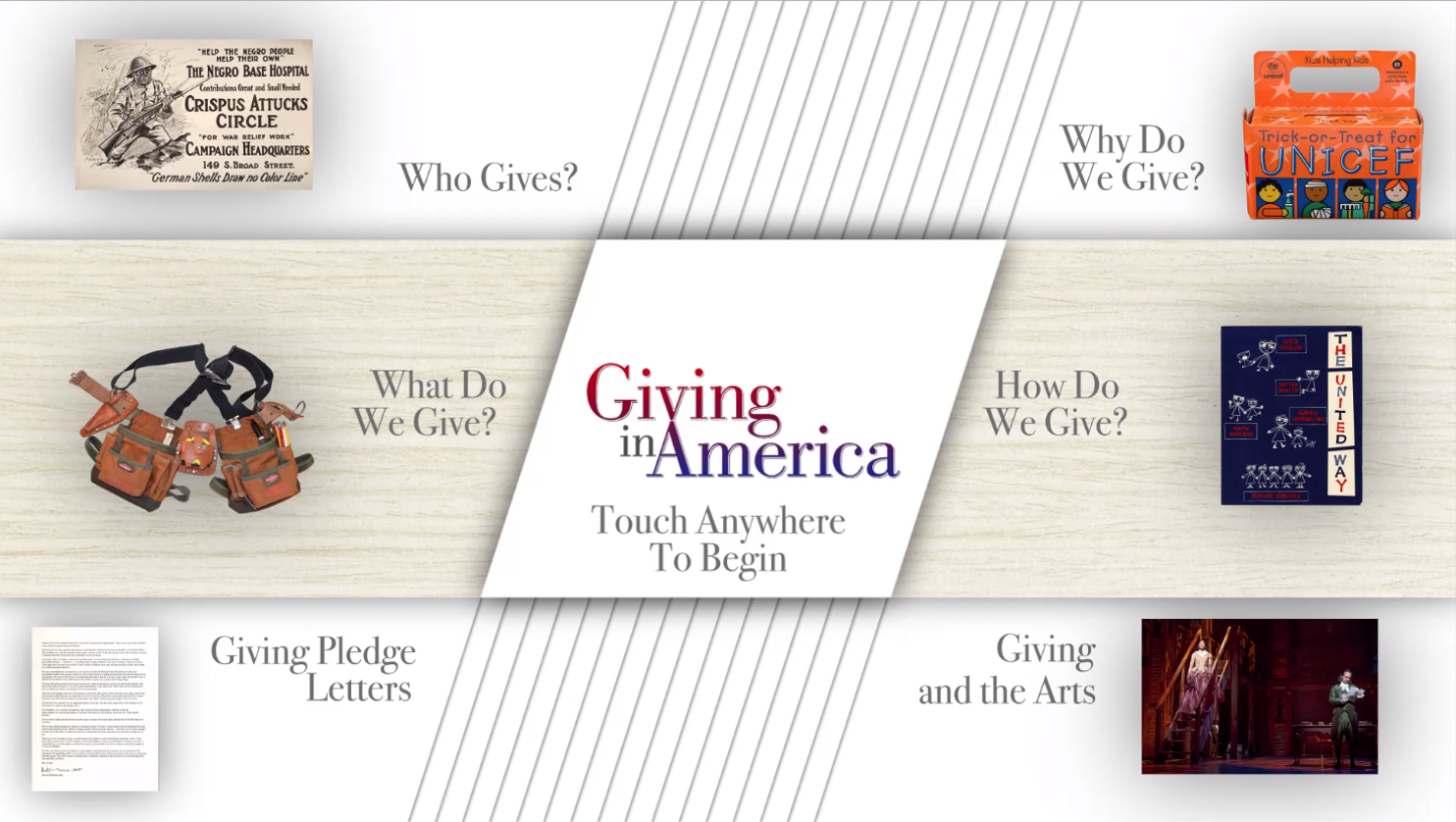 "Graphic image with title ""Giving in America"""