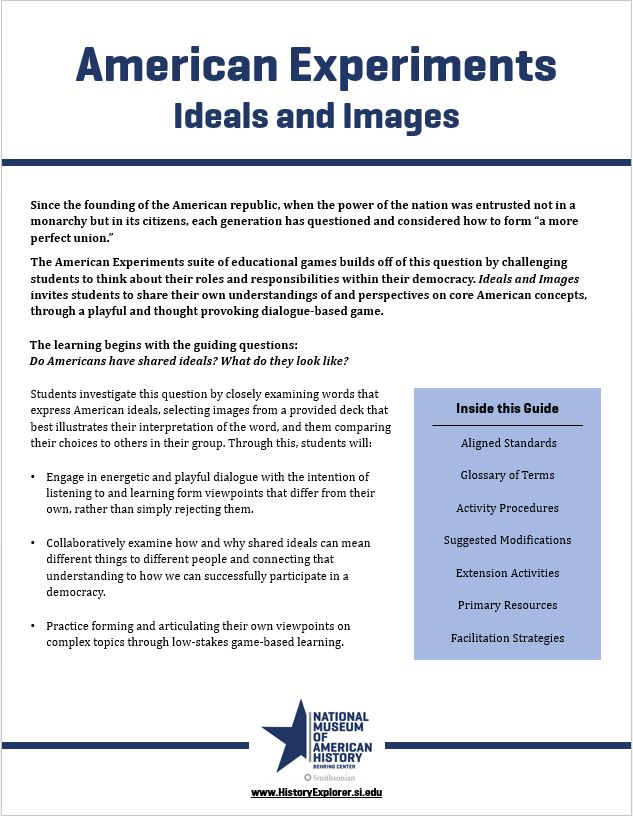 "Thumbnail image of the ""Ideals and Images"" lesson plan"