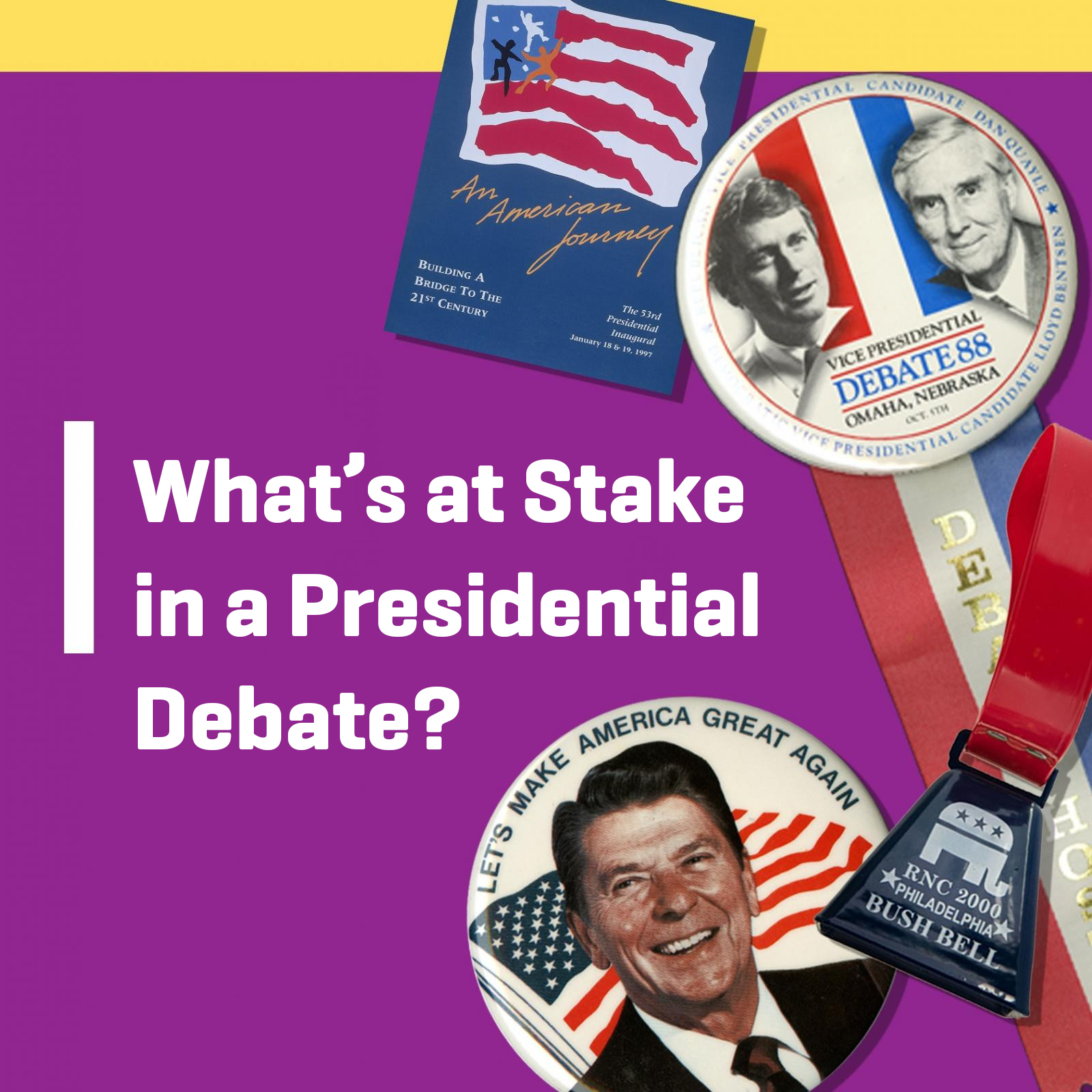 What's at Stake in a Presidential Debate? graphic