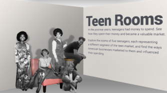 Image shows four teens from the 1950s to 1970s