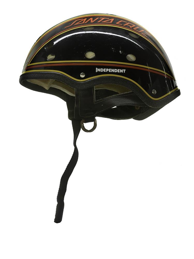 Black skateboard helmet