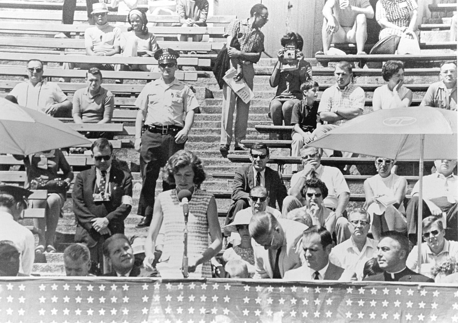 Eunice Kennedy Shriver at the first Special Olympics International Summer Games, Chicago, 1968. Courtesy of Special Olympics International.