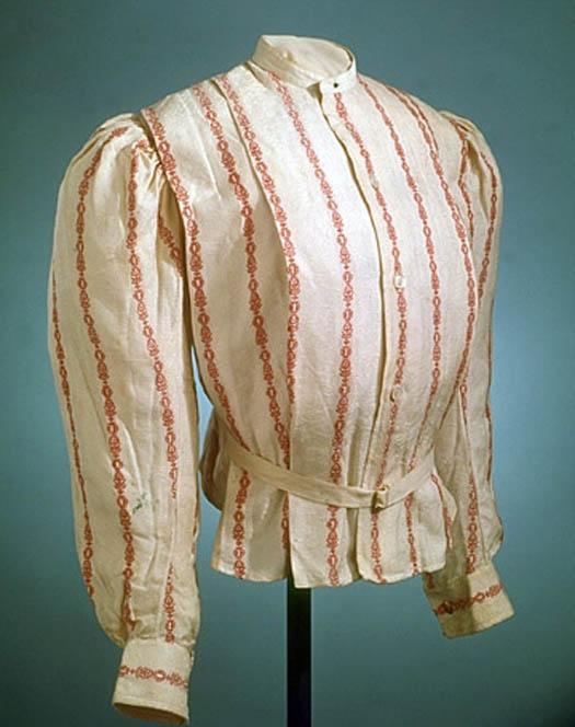 Shirtwaist made by Fisk, Clark & Flagg, about 1910.