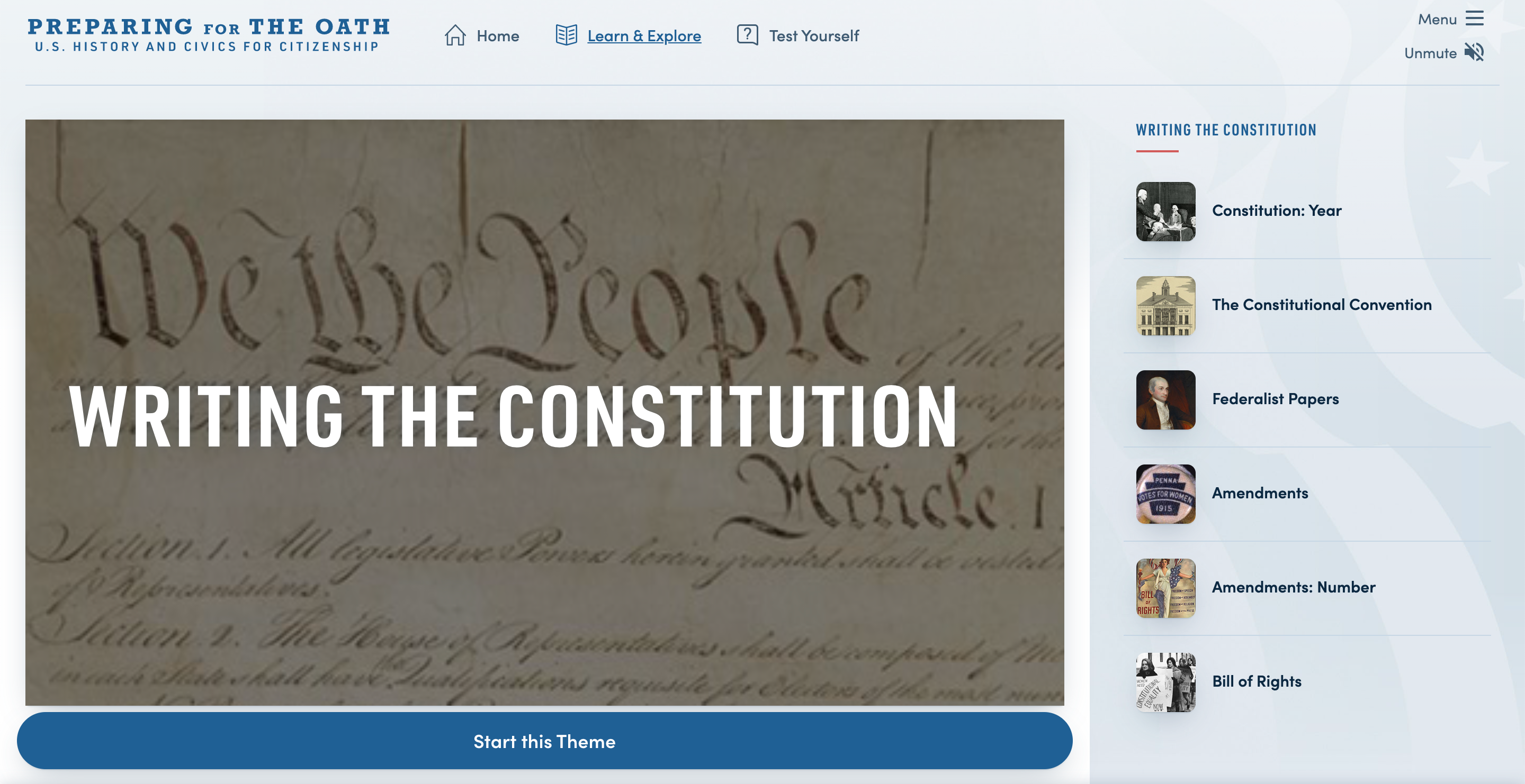 Thumbnail image of Preparing for the Oath: Writing the Constitution resource