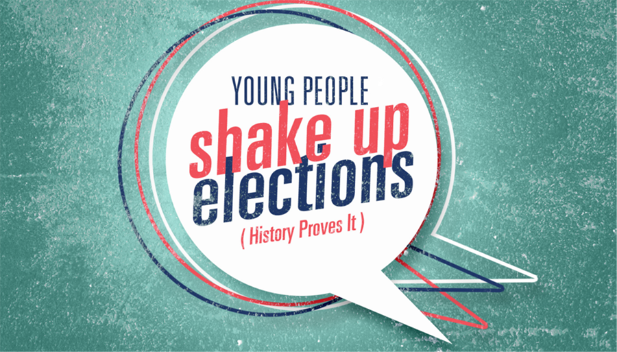 """Young People Shake Up Elections"" logo"