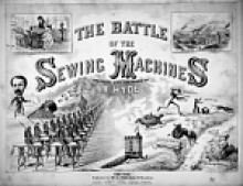 """The Battle of the Sewing Machines"" sheet music"