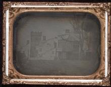 Daguerreotype of Unitarian Congregational Church, New York City made of brass and copper