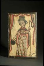 Wood painting that depicts El Santo Niño de Atoche