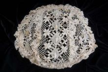 Lace christening cap