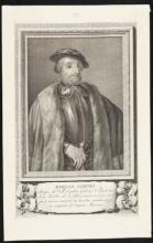 Engraving of Hernan Cortes