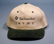 White The Guardian IMY2KC Baseball Cap with black rim and lettering