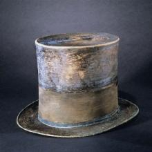 Abraham Lincoln's top hat made of silk