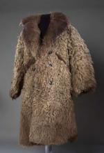 Overcoat made of buffalo skin