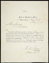 Draft letter from the Civil War
