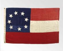 First Confederate national flag with two red stripes and one white