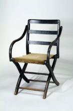 Ulysses Grant's wooden camp chair with wool seat