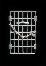 "Alice Paul's silver and metal ""Jailed for Freedom"" pin"