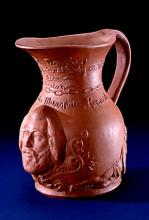 Ceramic, unglazed earthenware pitcher honoring Frederick Douglass