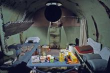 Steel family fallout shelter constructed in case of nuclear attack