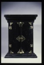 Black altar with gold adornments