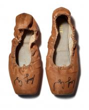 pancaked ballet shoes