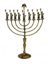 Menorah with Statute of Liberty at the ends