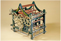 Patent model of textile machine